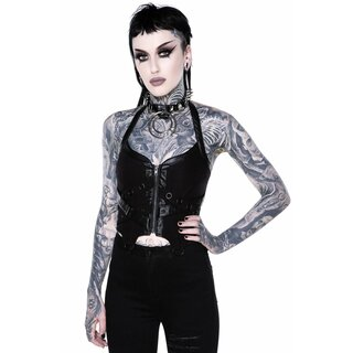 Killstar Halter Top - Cadaver Black