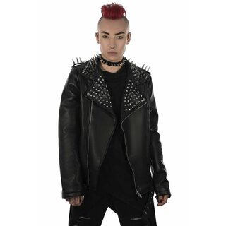 Killstar Vegan Leather Biker Jacket - Creeping Death