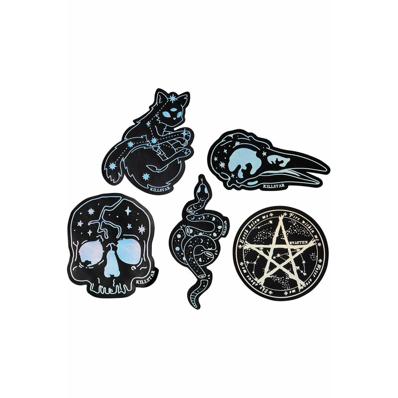 Killstar 5-Piece Sticker Set - Sticker Pack 8 Sky Magic
