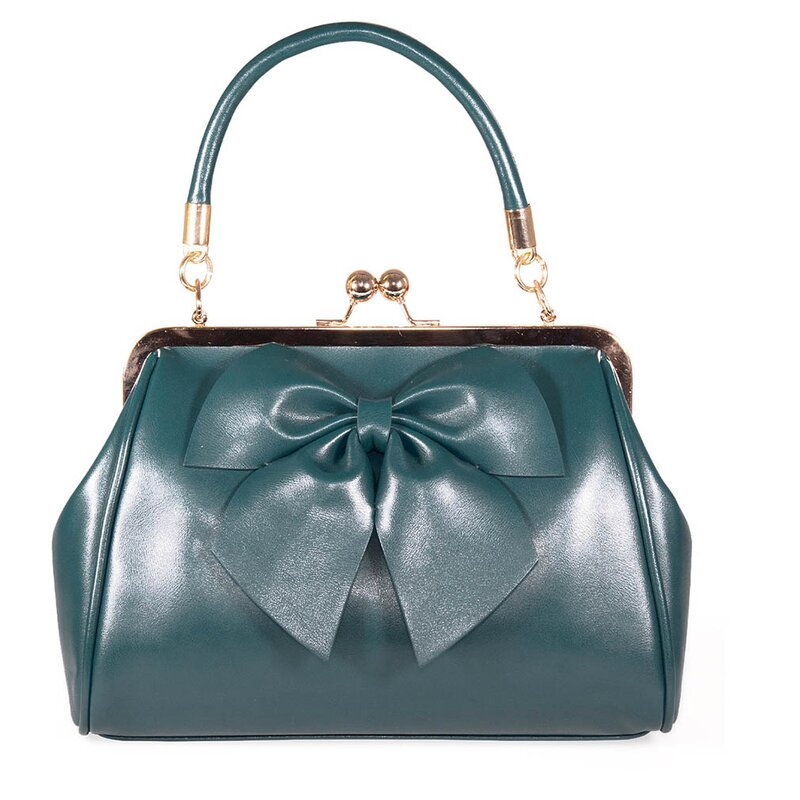 Banned Retro Handbag - Lockwood Bow Green