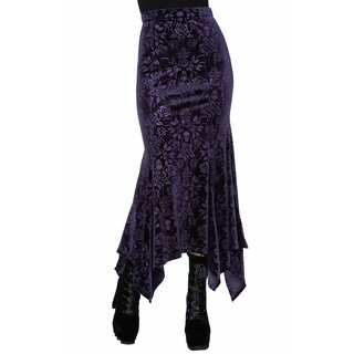 Killstar Maxi Skirt - Roses Are Dead Purple