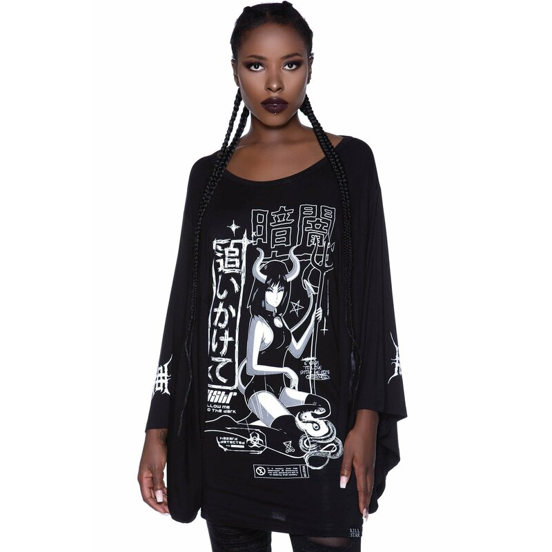 Killstar Tunic Mini Dress - Follow Me Kimono