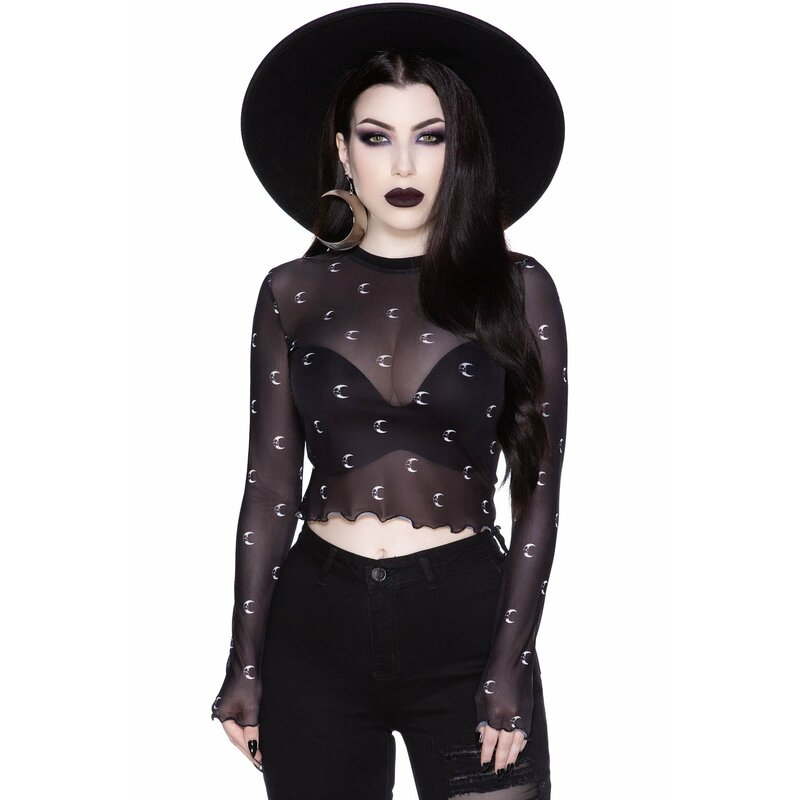 Killstar Mesh Crop Top - Mystica