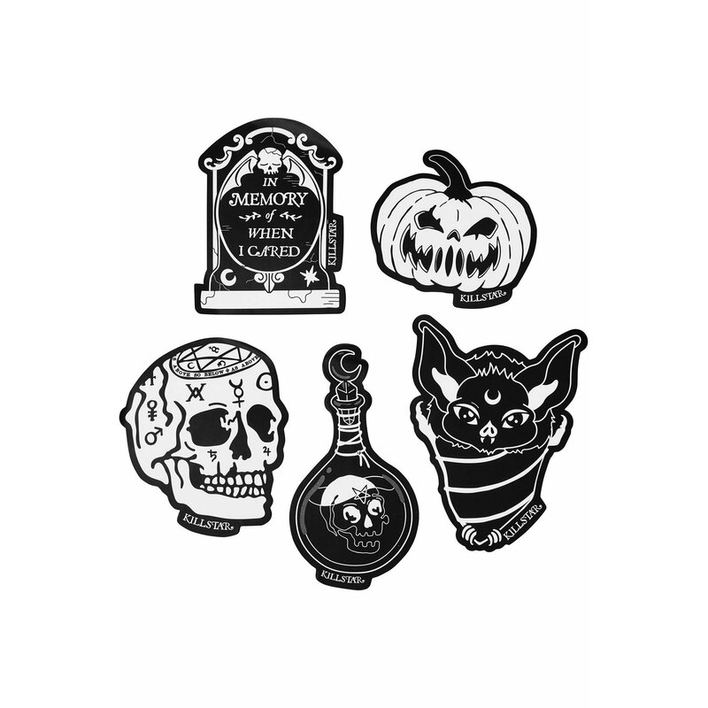 Killstar 5-Piece Sticker Set - Sticker Pack 9 Feeling Spooky