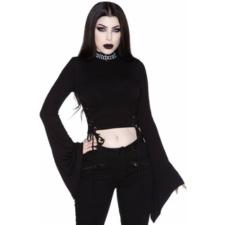 Killstar Long Sleeve Crop Top - Cindy