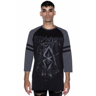 Killstar 3/4-Sleeve Raglan T-Shirt - Wake From Death