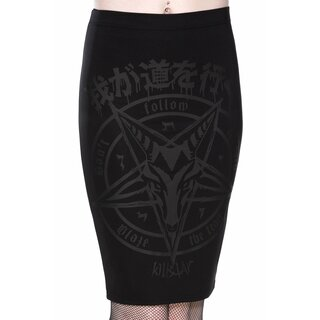 Killstar Pencil Skirt - Blazing Brimstone
