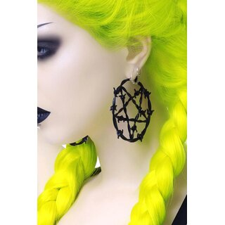 Killstar Earrings - Lifes A Witch Large Black