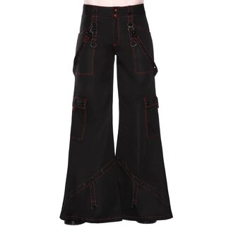 Killstar Flared Cargo Trousers - Night Species