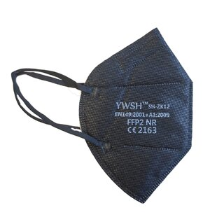 YWSH FFP2 Masks - Pack of 10 Black