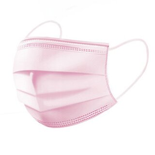 Cosmetic Masks - Single-Use Masks 50-Pieces Pink