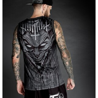 Hyraw Basketball Tank Top - Lucifer Grey
