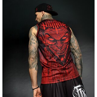 Hyraw Basketball Tank Top - Lucifer Red