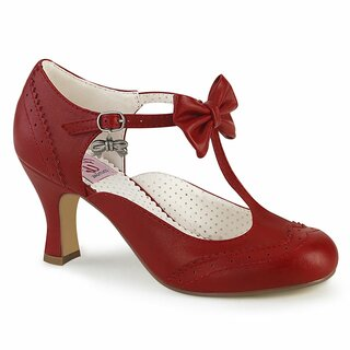 Pinup Couture Pumps - Flapper-11 Red