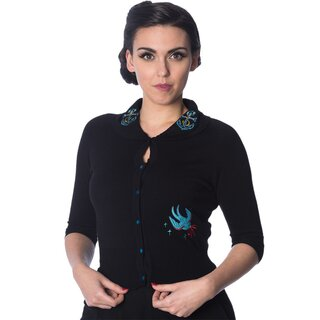 Banned Retro Cardigan - Free As A Bird