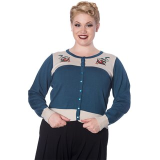 Banned Retro Cardigan - Young Love Teal