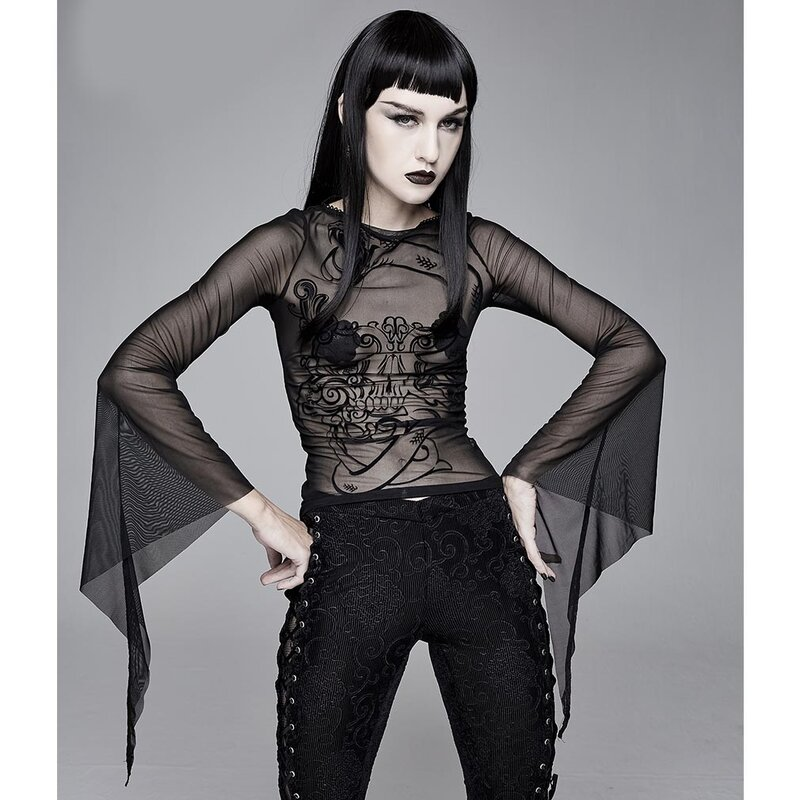 Devil Fashion Gothic Top - Deathkeeper XS