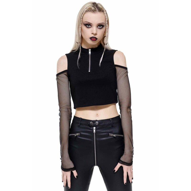 Killstar Langarm Crop Top - Salome 3XL