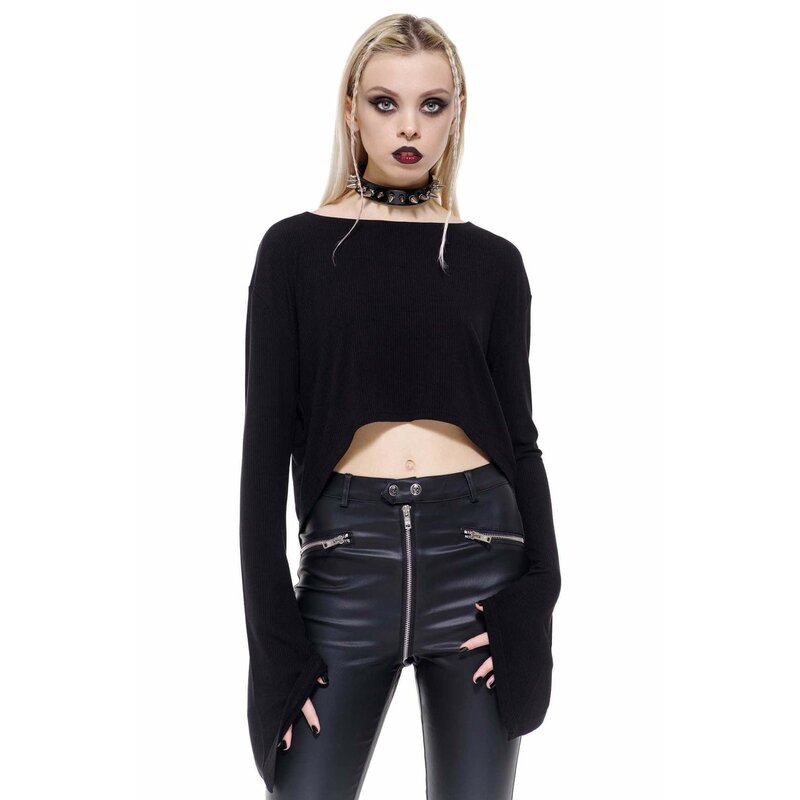 Killstar Langarm Crop Top - Ceromancy 3XL