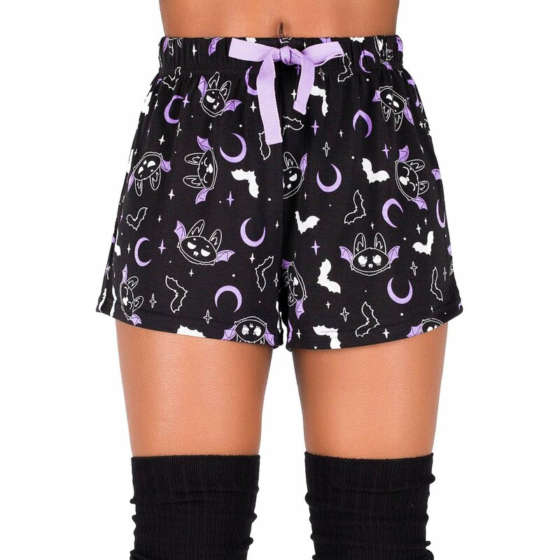 Killstar Pyjama Shorts - Batty
