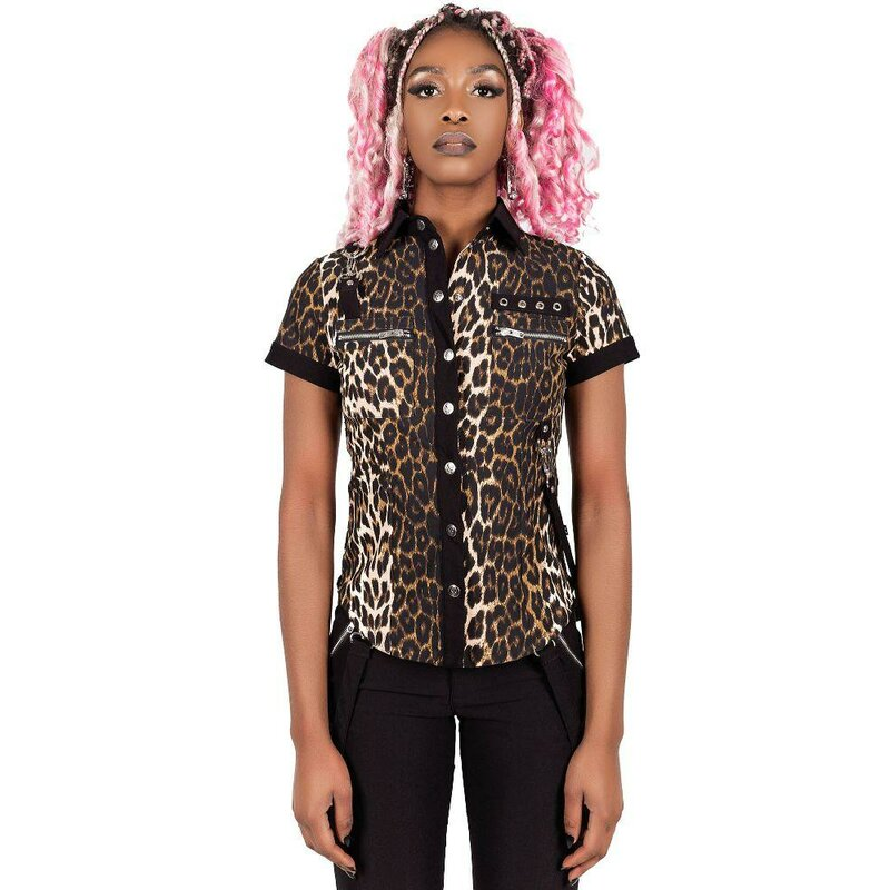 Killstar Gothic Blouse - Cats Meow Shirt