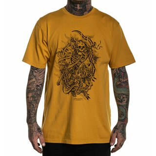 Sullen Clothing T-Shirt - Chase The Dragon Yellow