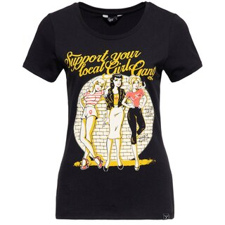 Queen Kerosin T-Shirt - Girl Gang Black