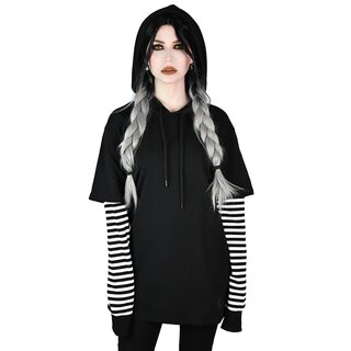 Killstar Long Sleeve Hooded Top - Jax White