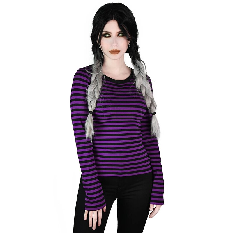 Killstar Long Sleeve T-Shirt - Jett Plum