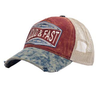 King Kerosin Trucker Cap - Loud & Fast Wine & Blue